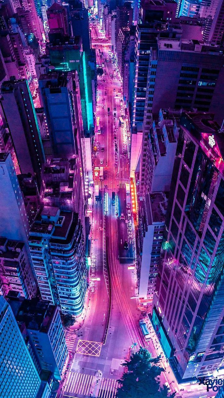 Glowing City In Night Wallpaper Android Wallpapers Android City Glowing Night Wallpaper Wallpapers Neon Wallpaper City Aesthetic Aesthetic Wallpapers