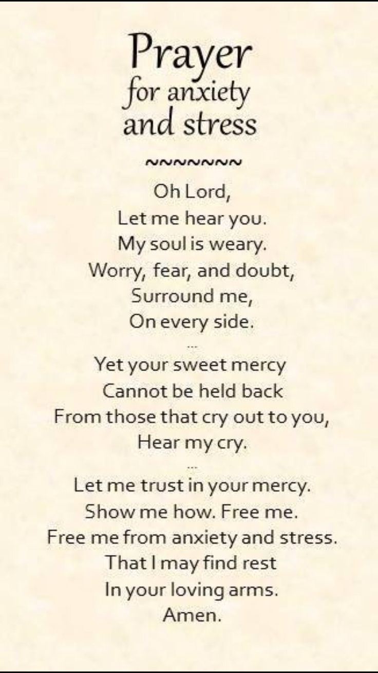 Prayer for Stress and Anxiety