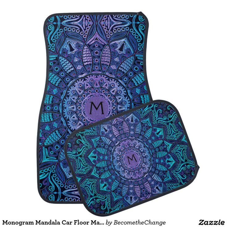 Monogram #Mandala #Car Floor Mats #zazzle