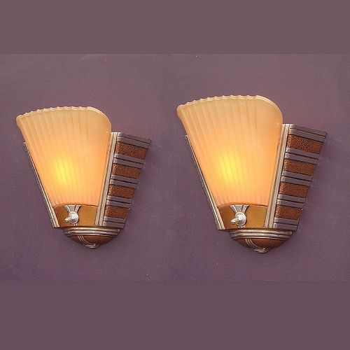 370 best ART DECO WALL LIGHTS images on Pinterest Art deco wall lights, Wall lighting and Art ...