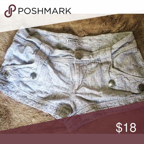 Express Linen Gray Shorts 6 Linen Gray shorts. Good condition. 45% cotton. Express Shorts
