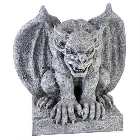Named for one of the fire and brimstone cities that served the god of wealth and greed, Gomorrah the gargoyle statue embodies the New World works fashioned at the hands of stone masons who crossed the