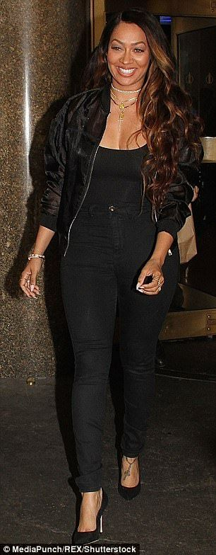TV star: On Wednesday night, La La opted for black again when she was spotted in a bomber ...