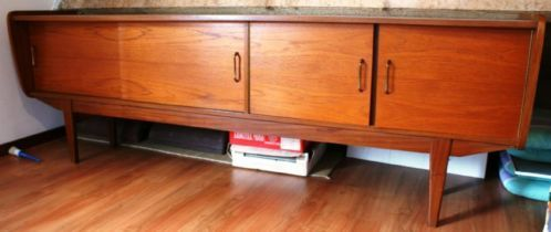 Lage 4 deurs kast tv-meubel vintage - Bieden