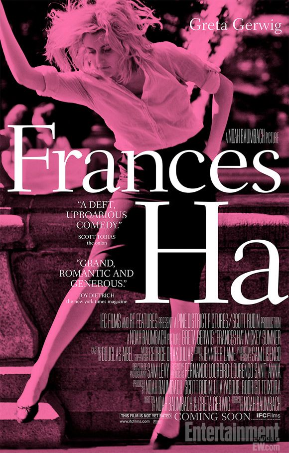 Greta Gerwig Goes Pink on Poster for Noah Baumbach's 'Frances Ha' | FirstShowing.net