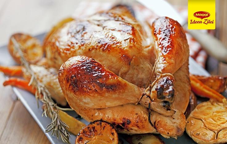 Baked chicken with MAGGI Ideea Zilei  // Am auzit ca unii dintre voi folosesc pungile de la MAGGI Ideea Zilei pentru a baga la cuptor INTREG puiul! Adevarat? :D -> https://www.facebook.com/photo.php?fbid=450482885025140=pb.287189181354512.-2207520000.1363177889=3