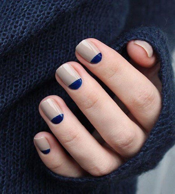 50 Half Moon Nail Art Ideen Naildesigns Gq Classy Nails Trendy Nails Glitter French Manicure