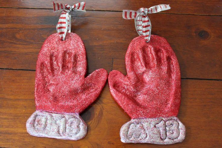 Handprint Mitten Ornaments