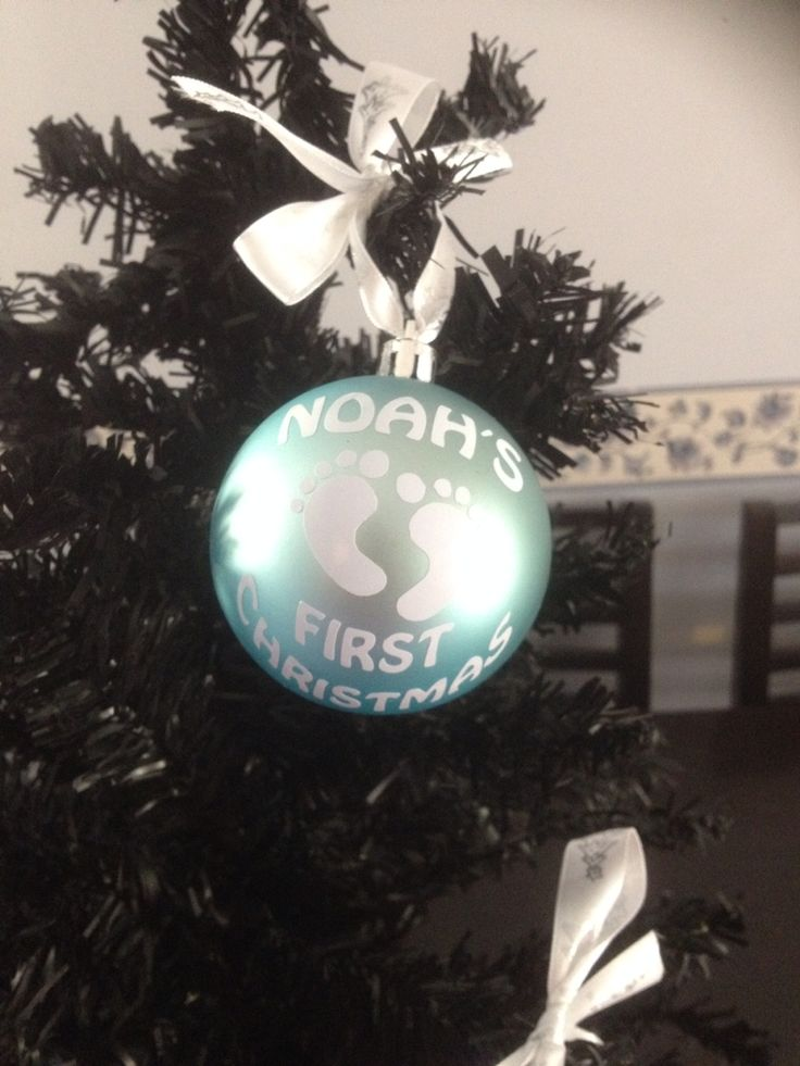 $13 Baby's First Christmas bauble, available at www.facebook.com/brightenupyourworld