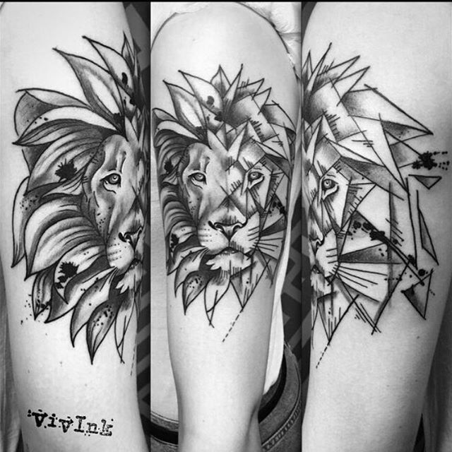 Part geometric lion tattoo done by Vivi @viviink @vivink_designs , go and check her out. Thanks Naomi :)  #lion #liontattoo #geometriclion #customtattoo #femaletattooartist  #londontattoo #londonink #ink #geometricanimalstattoo #animalsleeve  #instagood #tattooaddict #inkstagram #tattoodo #instafollow  #onlythedarkest #blackworkers #darkartists #blxckink #blackworkerssubmission