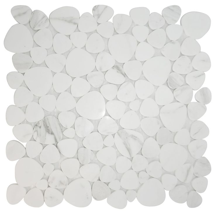 Chesil White Mosaic Tile, (L)305mm (W)305mm | Departments | DIY at B