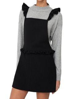 Robe tablier volantée Noir by MANGO Taille S