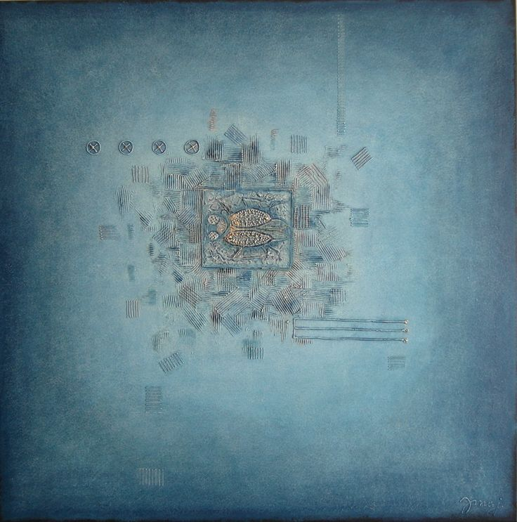 2-2016, 90x90 cm, mixed media