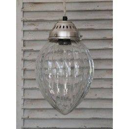 Chic Antique Loftlampe - Kuppel med riller - Glas