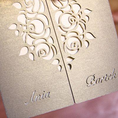 Laser Cut Wedding Invitation Wedding Invite by FoxfordAtelier