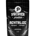 PROPER PROTEIN REVITALIZE CHOCOLATE  HYDROLYSED WHEY, ELECTROLYTES, AMINOS ACIDS, AMAZING FLAVOUR, AUSTRALIAN MADE AND OWNED.