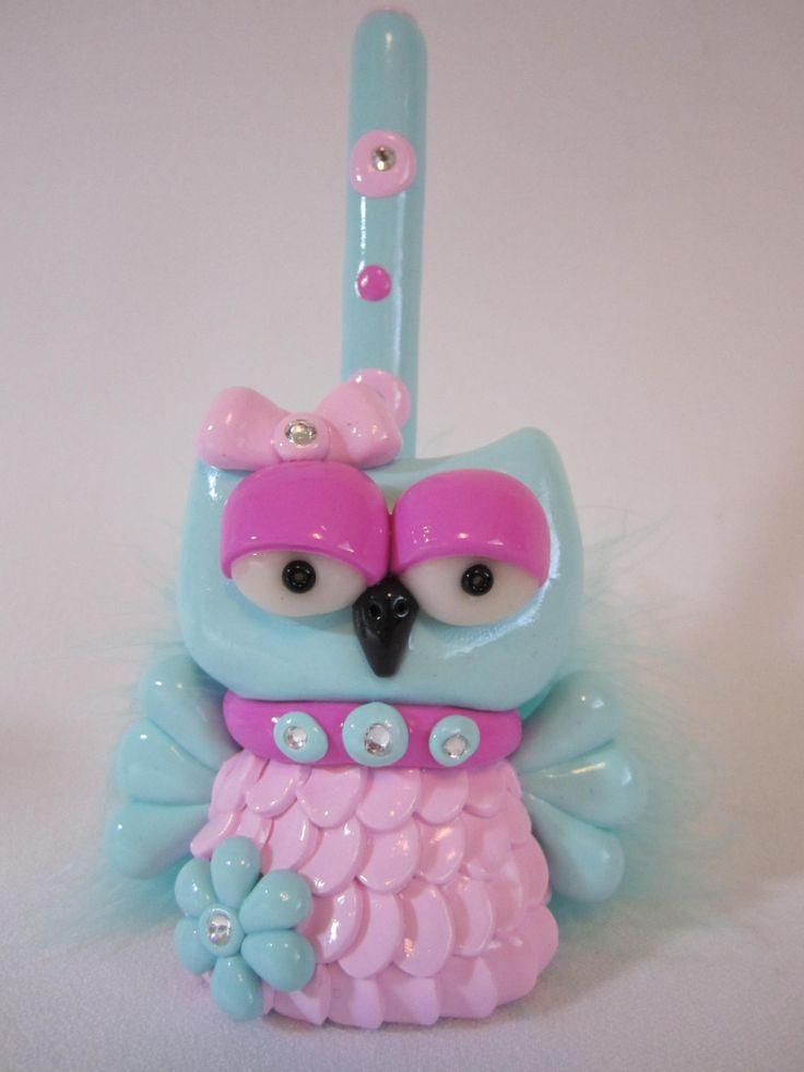 An owl pen holder for your desk.  $19.99.
