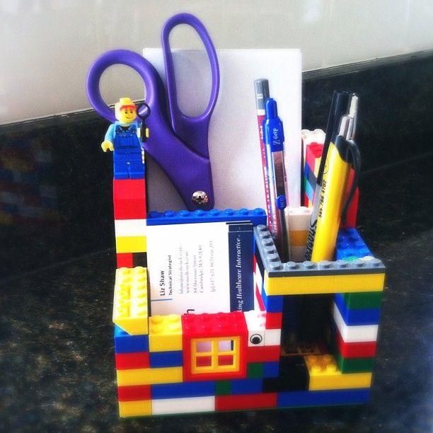 DIY LEGO organizador de Escritorio