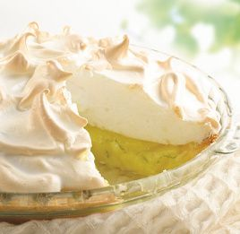 Lemon Lime Meringue Pie!  The perfect light and refreshing Summer afternoon treat! Click on the image to view our great tasting recipe.