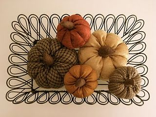 I love making fabric pumpkins for Fall - great and easy way to scratch that colorful fabric itch! This is a great tutorial for what I think is the best method.