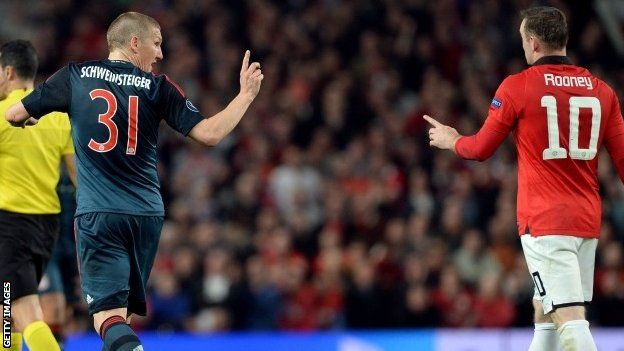 Wayne Rooney: Man Utd striker denies he dived against Bayern - Article From BBC Website - http://footballfeeder.co.uk/news/wayne-rooney-man-utd-striker-denies-he-dived-against-bayern-article-from-bbc-website/