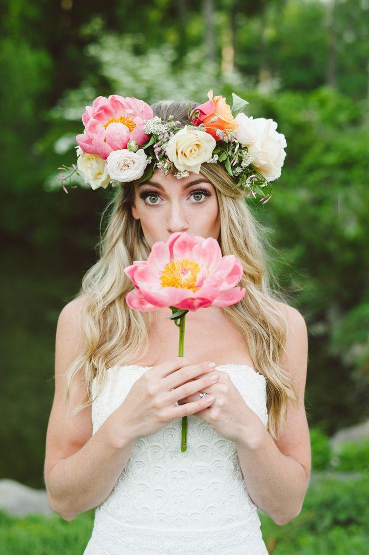 Stunning flower crown
