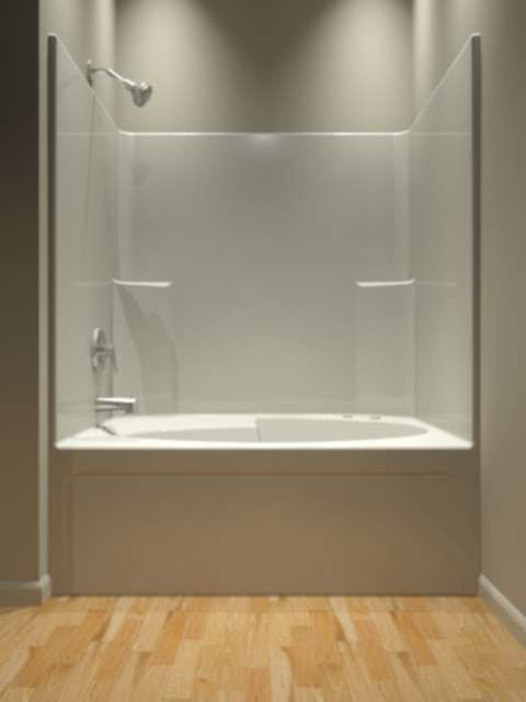 Tub and Shower - One Piece