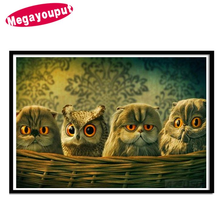 Megayouput 5D Diy diamond painting cross stitch cartoon owl picture diamond mosaic diamond embroidery arts and crafts home decor