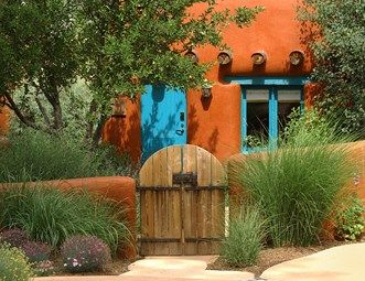 Southwestern Gate, Orange Garden Wall Gates and Fencing Landscaping…
