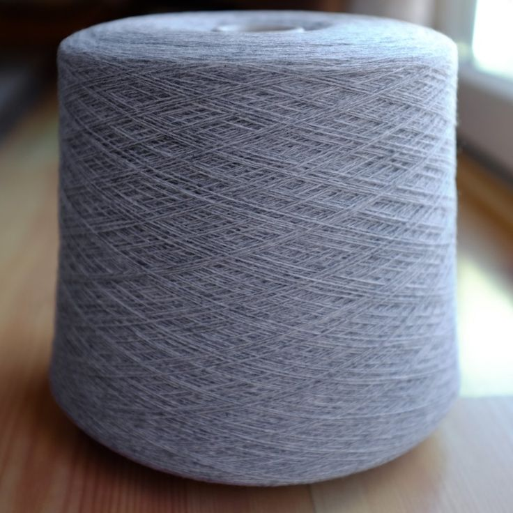 Cariaggi 100% Pure Cashmere Yarn Cone Light Gray 2/28NM Lace wt