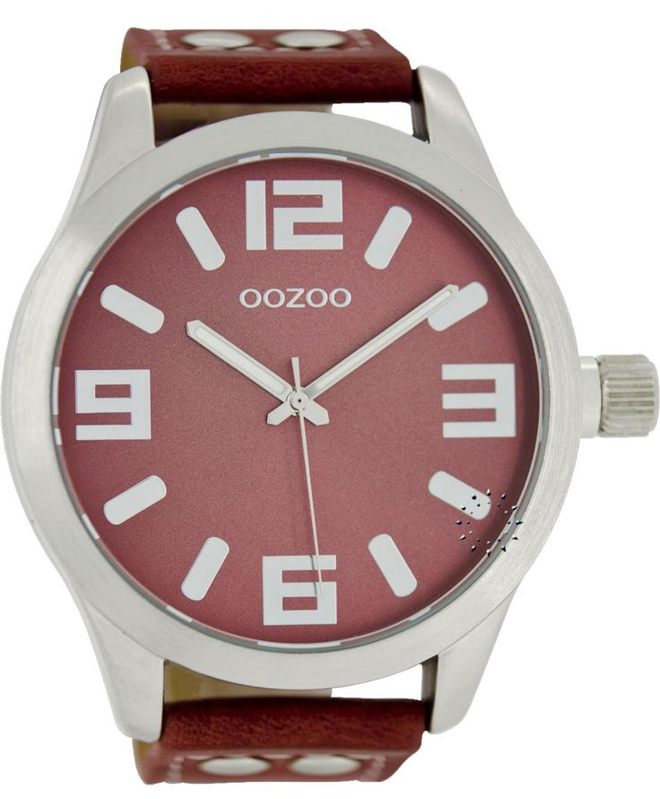 OOZOO Large Τimepieces Bordeaux Leather Strap Μοντέλο: C1009 Η τιμή μας: 65€ http://www.oroloi.gr/product_info.php?products_id=38479