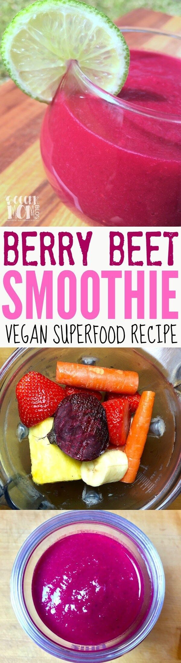 Packed with superfoods for a lasting energy boost - this healthy smoothie recipe looks beautiful and tastes amazing! Vegan, dairy free, kid-approved.