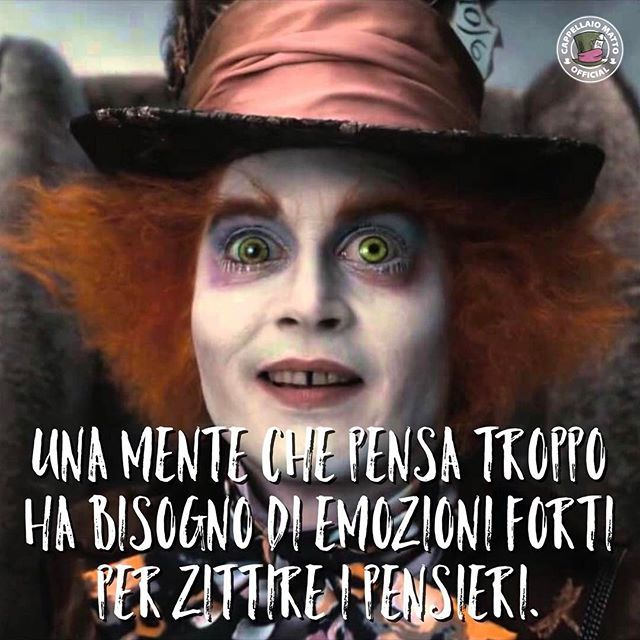 Cercasi emozioni forti per la mia mente.  • #cappellaiomatto #madhatter #alice #ilpaesedellemeraviglie #wonderland #serendipity #nofilter #love #cute #adorable #kiss #hugs #romance #forever #together #me #beautiful #instalove #pretty #fun #xoxo #cute #follow #smile #followme #friends #life #funny #cool #tommassinivirtualfamily
