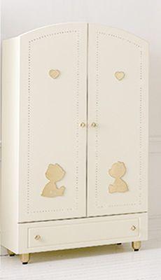 armadio CUORE DI MAMMA panna/oro#baby #crib #cot