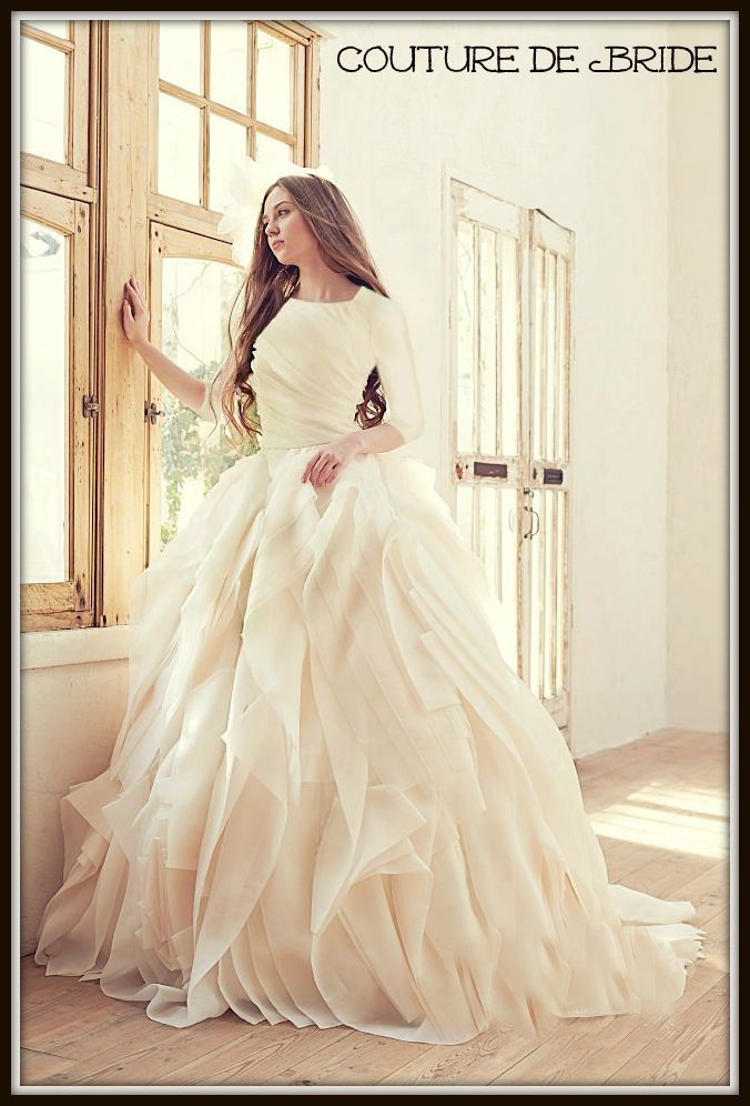 Modest Wedding Dress by Couture de Bride