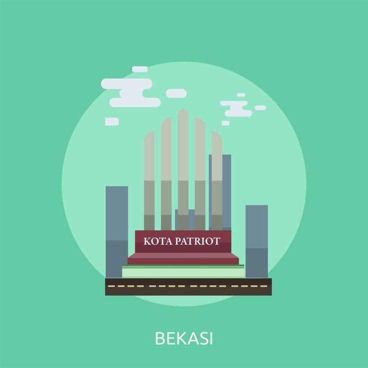 Bekasi City Of Indonesia Conceptual Illustration Design Ilustrasi Desain Perkotaan Seni
