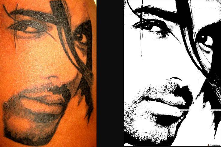 john abraham portrait tattoo