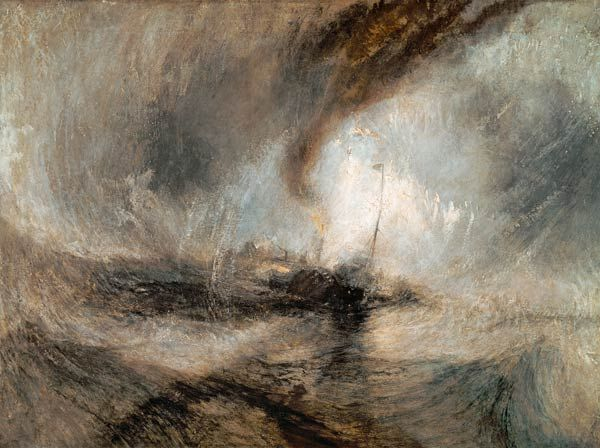 William Turner - Tempête de neige sur la mer