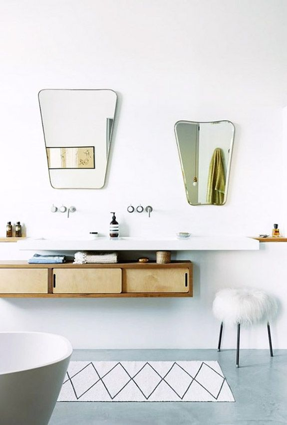 Bathroom with vintage mirrors for more visit houseandleisure co za