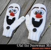 Olaf the Snowman Mittens - via @Craftsy