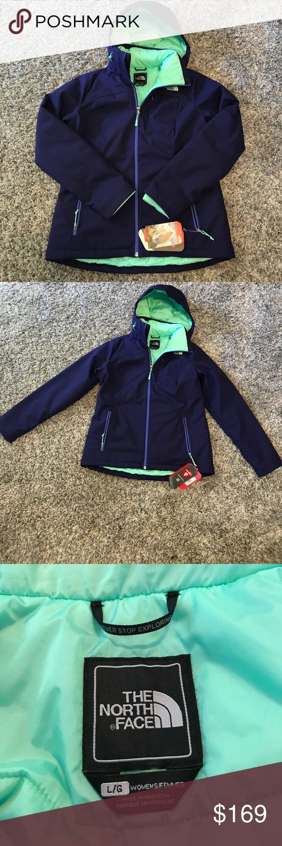 The North Face Apex Elevation Garnet Purple Jacket Super awesome purple and aqua winter jacket! So warm and soft! New with Tags! Reasonable offers accepted! Bundle for a private discount! The North Face Jackets & Coats