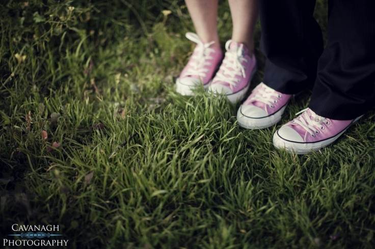 Pink Converse wedding shoes. No sore feet for this bride :) Image: Cavanagh Photography http://cavanaghphotography.com.au