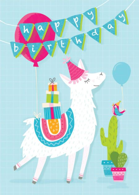 Charlie Hadfield - Charlie Hadfield - Lama Birthday Card