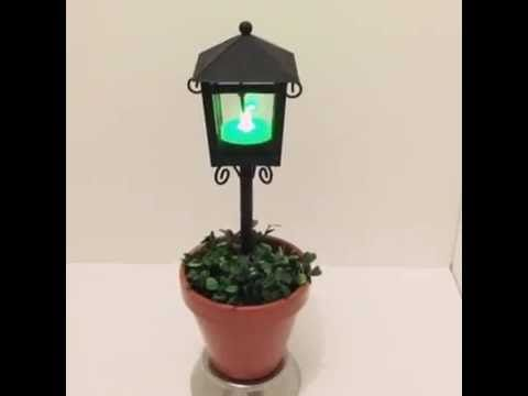 Planter with LED Tea light - YouTube