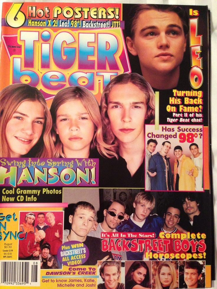 Tiger Beat August 1998 NSYNC Backstreet Boys. Oh my gosh! This is from my senior year!
