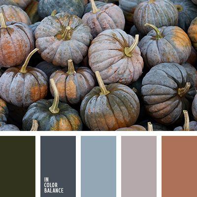 """""""пыльный"""" зеленый, """"пыльный"""" коричневый, бледно-голубой, болотный, голубой, коричневый, оттенки осени, серо-зеленый, серо-розовый, серо-синий, синий, цвет тыквы, цвета для осени, цвета осени 2016, цветовое решение для осени."""