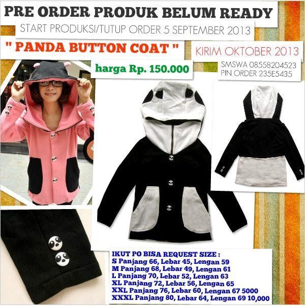 Jaket Hoodie Panda Buttons Coat | Jaket Sweater Hoodie Cute Unique CARA PEMESANAN & PEMBAYARAN :  COPY FORMAT PEMESANAN      KE INBOX FACEBOOK PAGE :  https://www.facebook.com/JaketSweaterHoodie SERTAKAN : NAMA PEMESAN + TLP + ALAMAT LENGKAP KEL/KEC/KAB/KOTA + NAMA PRODUK + UKURAN +  TRANSFER ATAU SETOR TUNAI SALAH SATU BANK [BCA / BRI / BNI / MANDIRI] +  DP  atau LUNAS :  SMSWA 08558204523 PIN ORDER 235E5435  YM: sms.08558204523@yahoo.com