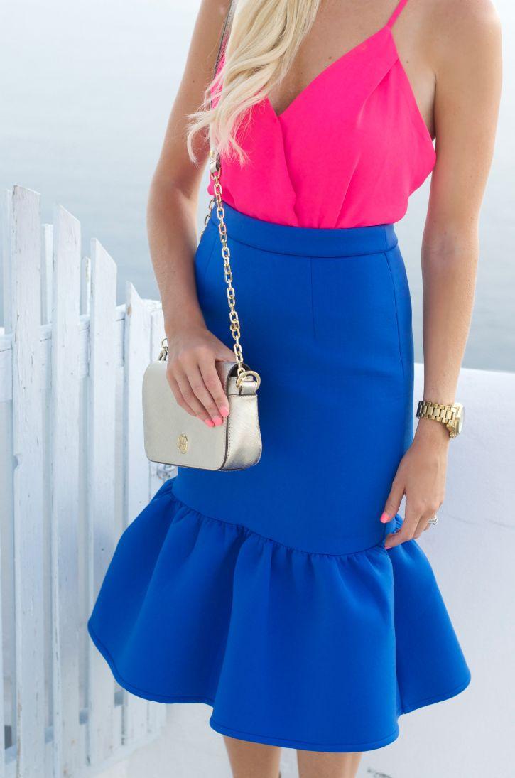 Loving this peplum skirt
