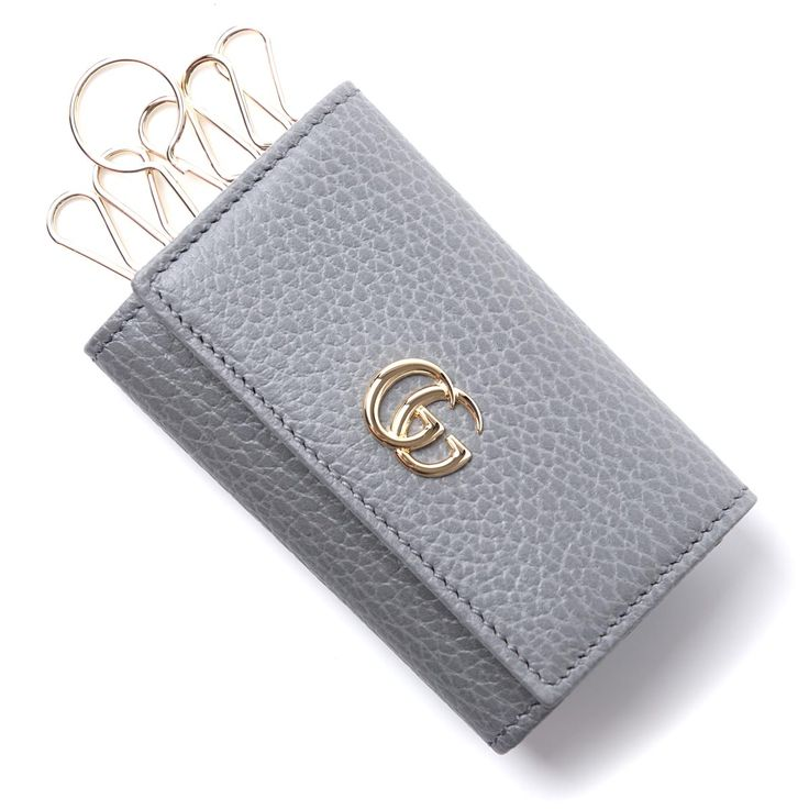 BRANDグッチ/GUCCI  ITEMキーケース/PETITE MARMONT LEATHER  Item No.456118-cao0g-1711  Colorグレー系 (COL:GRY)