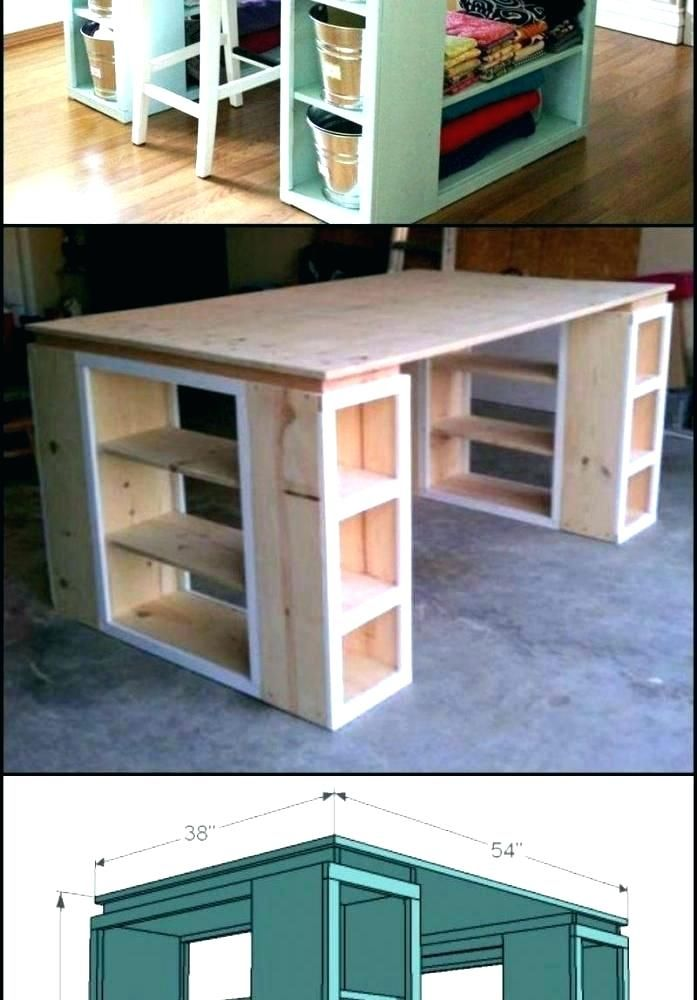 Counter Height Craft Table Esportevents Org Craft Tables With Storage Craft Table Craft Table Diy